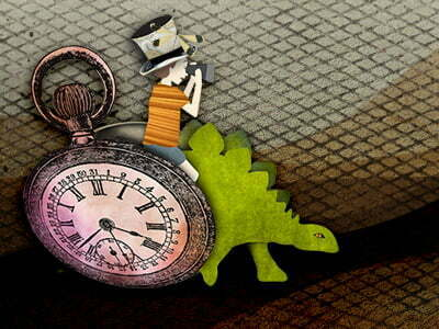 Dinosaur and time image