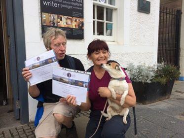 Symington the Dog completes John Muir Way